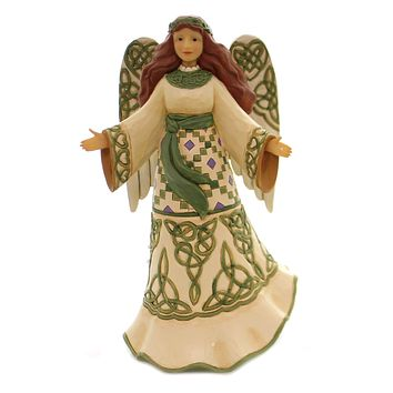 Jim Shore MIRACLES FROM MOORS TO MOUNTAIN Polyresin Irish Angel 6003627