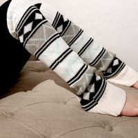 Aztec Multi Leg Warmers (cream)