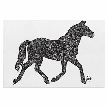 "Adriana De Leon ""Horsie"" Horse Illustration Decorative Door Mat"