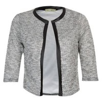 New Look Mobile | Innocence Grey Contrast Trim Cardigan