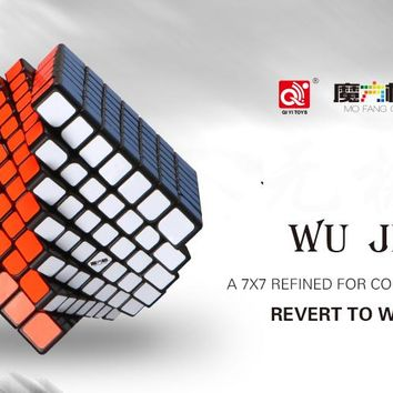 Qiyi Mofangge Wuji 7Layers Cube Stickerless or Black Stickers 7x7x7 Refined For Competition Cube Puzzle Toys For Children Kids