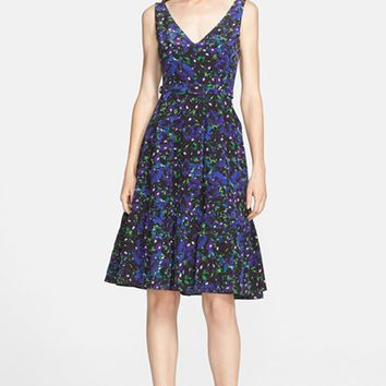 Women's Erdem Floral Ruffle Hem Silk Dress,