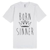 Born Sinner-Unisex White T-Shirt
