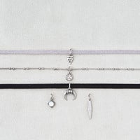 AEO Black and Gray 3-Pack Choker , Silver