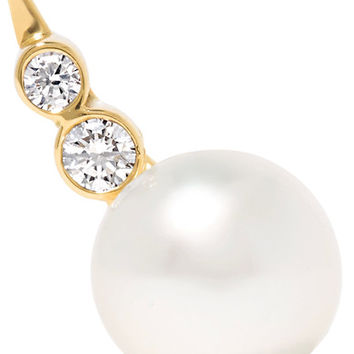 Sophie Bille Brahe - Lulu 14-karat gold, pearl and diamond earring