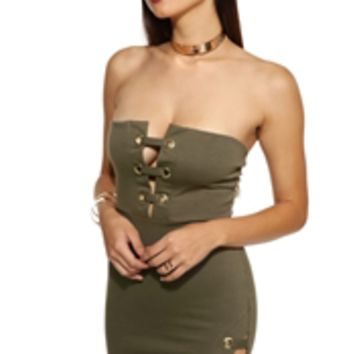 Olive Hold Tight Dress