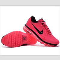NIKE trend of plastic bottom casual shoes breathable running shoes Rose red and black