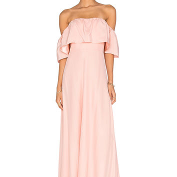 Amanda Uprichard Delilah Maxi Dress in Dusty Rose