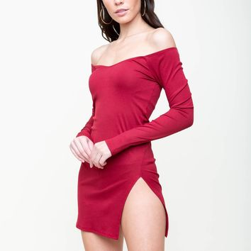 Swingin' Party Off Shoulder Dress