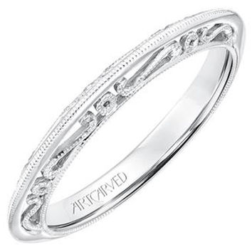 "Artcarved ""Audriana"" Filigree Scrollwork Wedding Band"