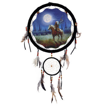 """13"""" Dream Catcher - Indian and Horse"""