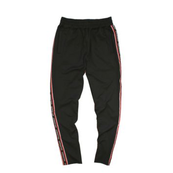 Ribboned Track Pants - Black