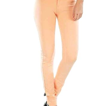 Colored Skinny Jeans, Peach