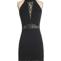 ModCloth LBD Mid-length Halter Bodycon Sultry Saturday Dress