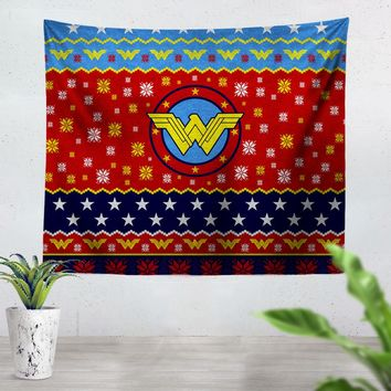Wonder Woman Christmas Tapestry