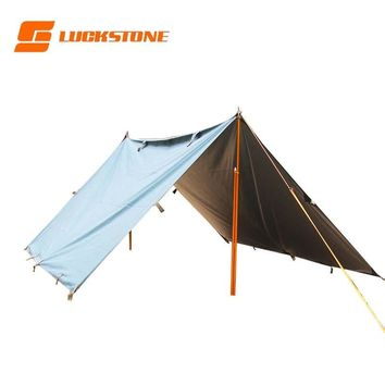 Sun Shelter Tent Waterproof Awning Hiking Portable Canopy Outdoor Gazebo Camping Tent Big Size Silver Coating Tarp Tent