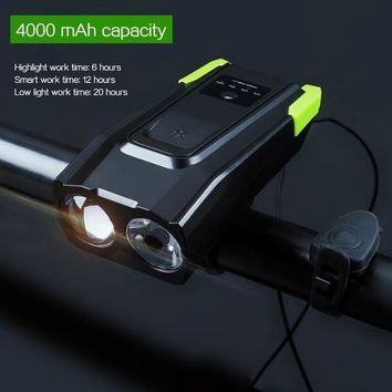 WorthWhile Smart  Bicycle Front Light Sensing Intelligent Flashlight for Bike Accessories with Speaker USB Charging Cycling Lamp