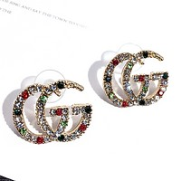 GUCCI Women New Fashion Multicolor More Diamond Earring Accessories