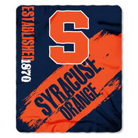 Syracuse Orangemen NCAA Light Weight Fleece Blanket (Painted Series) (50inx60in)