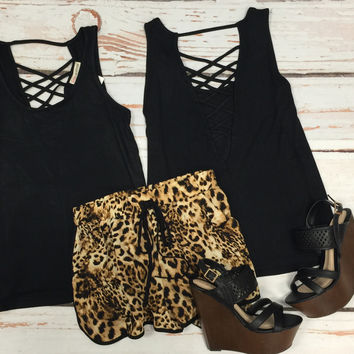 Leopard Pocket Shorts
