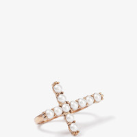 Pearlescent Cross Knuckle Ring