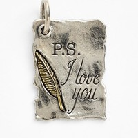 Women's Waxing Poetic 'Storybook Page - P.S. I Love You' Charm - Sterling Silver/brass
