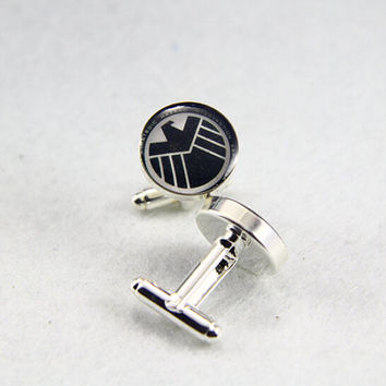 Shield Cufflinks,Game  Cufflinks, Custom Photo/image /TEXT, Always your Little Girl