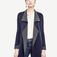 Wool Cashmere Sweater Jacket | Ann Taylor