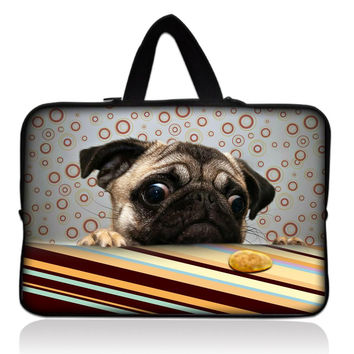 "Cool Pug 10"" Laptop Tablet PC Sleeve Bag Case+ Hide Handle For Apple iPad 4 3 2 1 For Lenovo YOGA Dell Venue 10 For Asus Xiaomi"