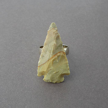 fancy jasper gemstone arrowhead ring