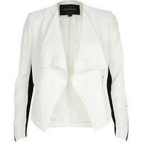 White color block waterfall jacket - jackets - coats / jackets - women