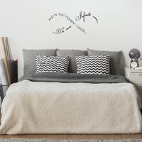 """And in that moment I swear we were infinite -  30"""" x 14"""" -  Infinity love Vinyl Wall Decal Sticker Art"""