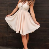 Dreaming Of The Day Dress: Nude