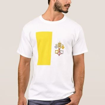 T Shirt with Flag of Vatican