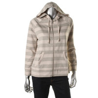 Style & Co. Womens Petites Knit Striped Hoodie