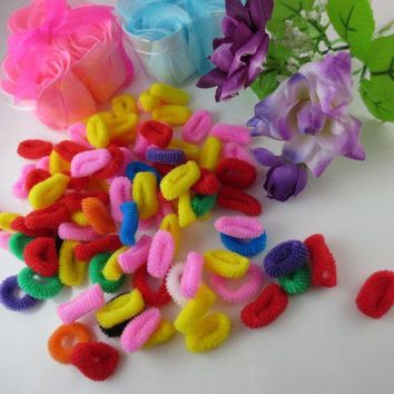 ESB1ON 80pcs / one pack  Baby Girls Toddler Kids Children Elastic Hair Bands Bobbles Bows Boutique  Free shipping Y1