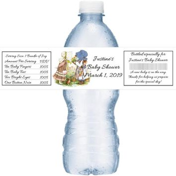 21 Holly Hobbie Baby Shower Water Bottle Labels