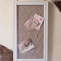 Antique White French Message Board