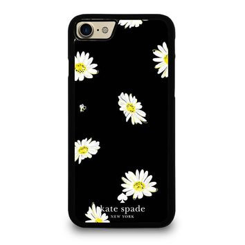 KATE SPADE FLOWER IN BLACK iPhone 4/4S 5/5S/SE 5C 6/6S 7 8 Plus X Case