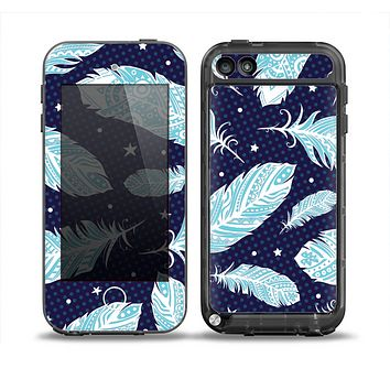 The Blue Aztec Feathers and Stars Skin for the iPod Touch 5th Generation frē LifeProof Case