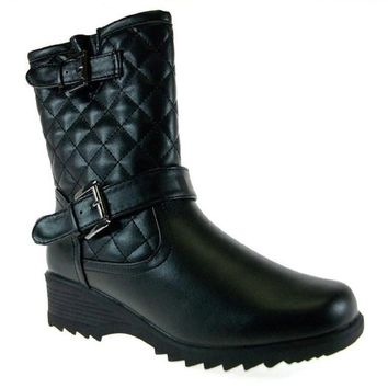 b238a4d86bd Best Black Quilted Boots For Women Products on Wanelo