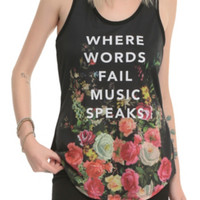 Music Speaks Floral Girls Tank Top