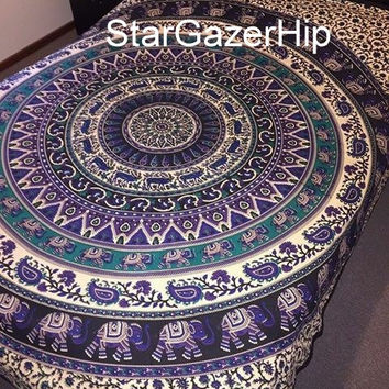 Queen Mandala Tapestry Bohemian Wall Hanging Hippy Bed Cover Mandala VS 022 Q