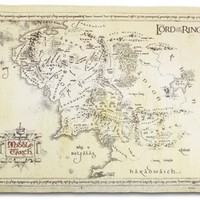 "The Lord Of The Rings - Vintage Look Parchment Print / Movie Poster (Map Of Middle Earth) (Size: 26"" x 18"")"