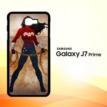 WONDER WOMAN silhouette Y0546 Samsung Galaxy J7 Prime Case