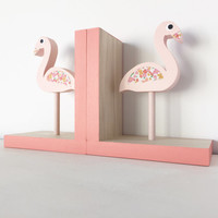 Flamingo Bookends, Children Bookends, Pink Flamingo Room Decor,  Kids Pink Flamingo, Flamingo Baby, Flamingo, Pink Flamingo Nursery