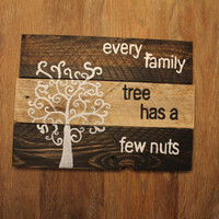 Rustic Family Tree Sign