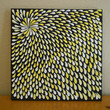 Painting Yellow and White Aboriginal Inspired 12 x12 by Acires