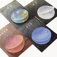 1Pcs The Beautiful Planet Memo Notepad Notebook Memo Pad Self Adhesive Sticky Notes Bookmark Stationery Gift