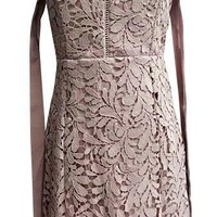 Remote Access Lace Strapless Ribbon Tie Off the Shoulder Mini Dress - Sold Out